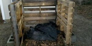 Compost Bin Made From Old Pallets